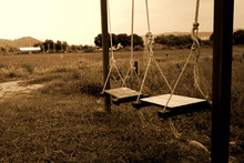 Sepia Of Swing In The Field