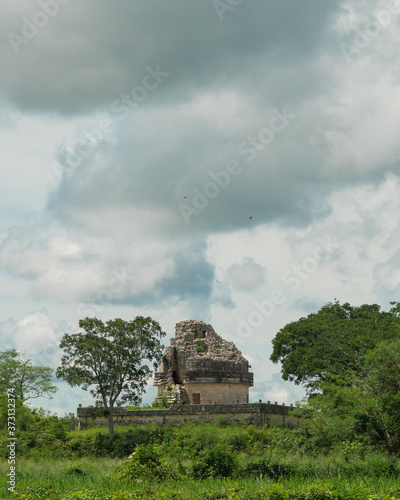 Canvastavla Ancient Mayan Observatory at Chichen Itza