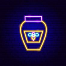 Honey Jar Neon Sign