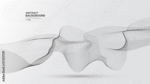 White abstract background with flowing particles Fototapet
