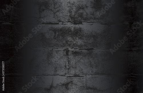 Obraz Luxury black metal gradient background with distressed brick wall texture. - fototapety do salonu