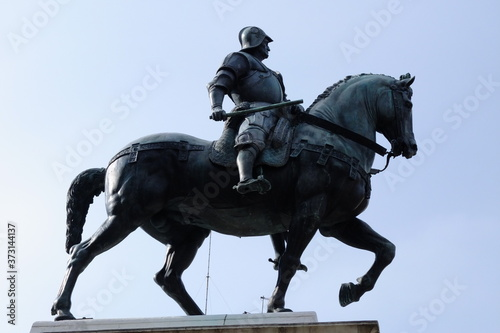 Fotografie, Obraz Bartolomeo Colleoni, Venezia monumento equestre, Monumento in Bronzo del Verrocc