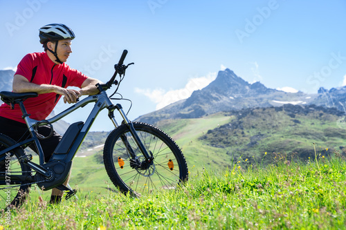 E Bike Bicycle In Austria. Mountain Ebike Fototapete
