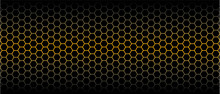 Gold Honeycomb Pattern. Seamless Geometric Hive Background. Abstract Yellow, Orange Beehive Raster Background. Funny Vector Golden Bee Honey Shapes Sign. Amber Color