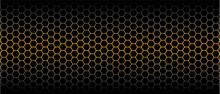 Gold Honeycomb Pattern. Seamle...
