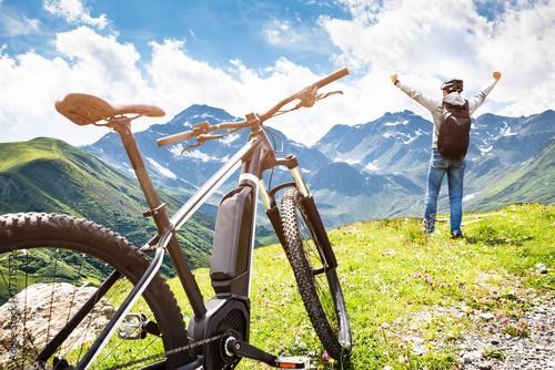 Mountain E Bike In Austria Fototapeta
