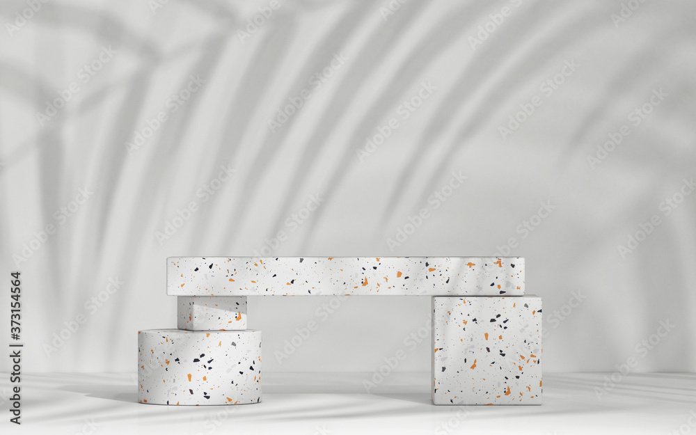 Mockup podium for product presentation, 3d rendering of showroom or exhibition premium background