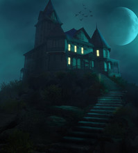 Halloween Haunted Manor On A H...