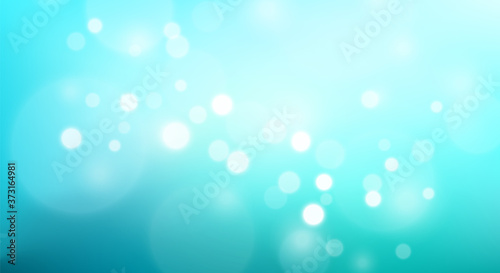 Abstract Teal azure gradient background and bokeh effect Canvas Print