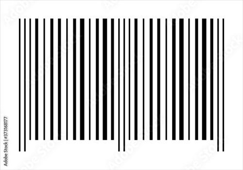 Papel de parede Código de barras sobre fondo blanco