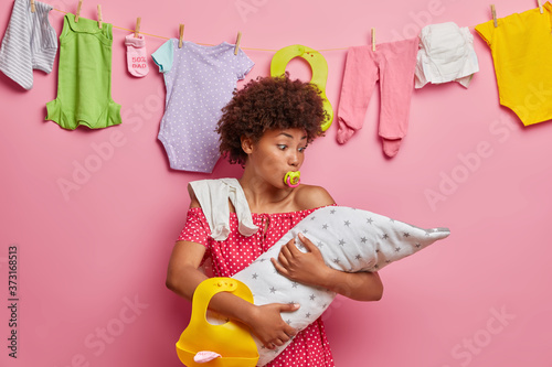 Fotografie, Obraz Child care, motherhood concept