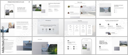 Fotografija Bundle of editable business templates for digital app, web products