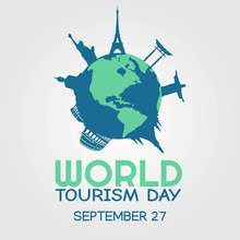 World Tourism Day Vector Illustration