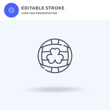 Gaelic Football Icon Vector, Filled Flat Sign, Solid Pictogram Isolated On White, Logo Illustration. Gaelic Football Icon For Presentation.