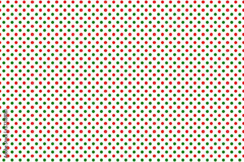 Fotografía Patrón lunares rojos y verdes,motivo navideño