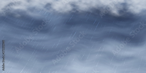 Fotomural Dramatic autumn sky, It is raining