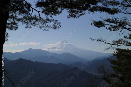 Photo 大月市にある百蔵山から見る富士山