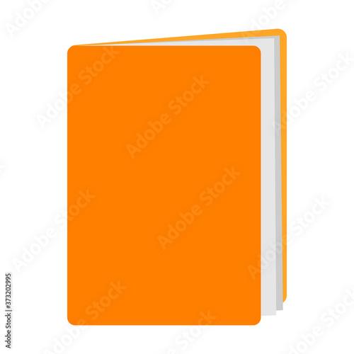 Fotografie, Obraz Yellow folder against white background