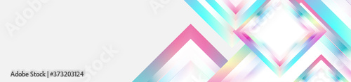 Fotografie, Obraz Holographic glossy squares geometric abstract tech banner