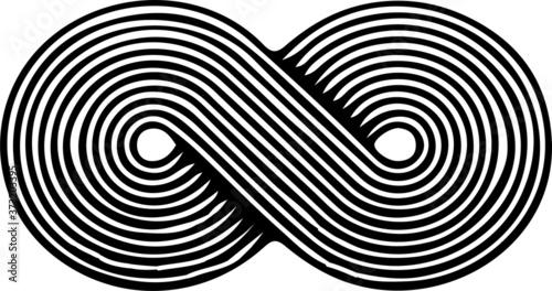 Cuadros en Lienzo infinity sign on white background