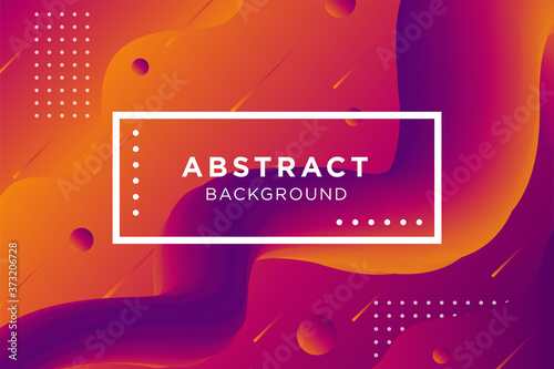 Tablou Canvas Abstract 3d orange and purple gradient shape background