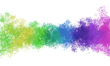 Rainbow  Blend Color Smoke Background