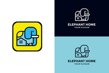 Rounded Rectangle With Elephan...