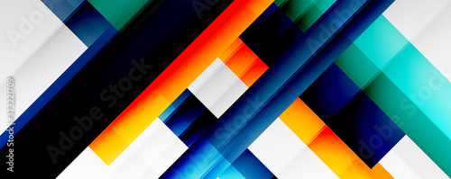 Obrazy kolorowe  geometric-abstract-backgrounds-with-shadow-lines-modern-forms-rectangles-squares-and-fluid