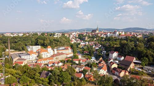 Fototapeta Panorama of Bautzen town in Saxony, Germany aerial obraz na płótnie