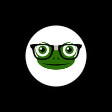 Hipster Animal Frog Icon Isolated On Dark Background