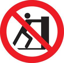 No Pushing Signs And Symbols