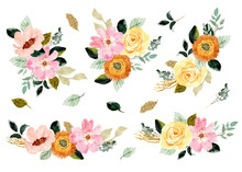 Yellow Pink Floral Garden Wate...