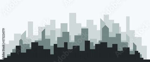 Abstract futuristic city sky with modern buildings vector wallpaper background Fototapete