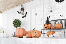 Carved Pumpkins On White House...