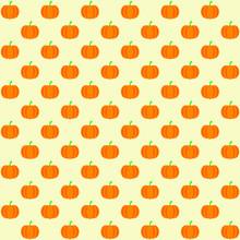 Orange Pumpkin With Yellow Bac...