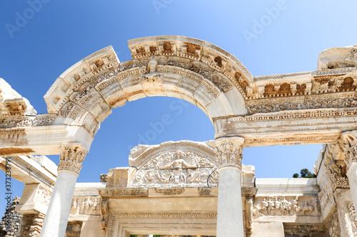 Temple of Hadrian in Ephesus Ancient City, Izmir, Turkey Canvas Print