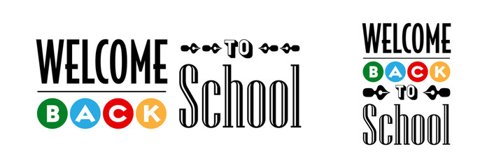 Welcome back to school typography