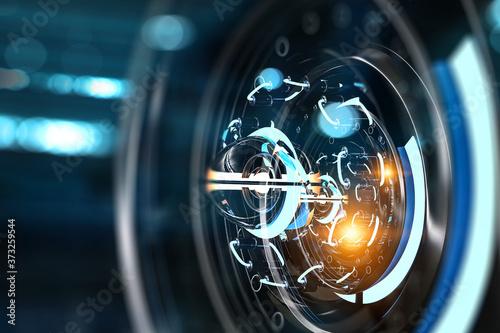 Obraz na plátně Technology and innovation concept . Mixed media
