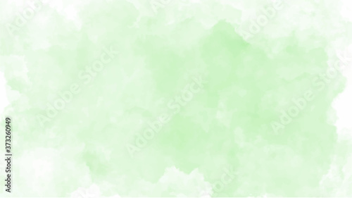 Fotografia Green watercolor background for textures backgrounds and web banners design