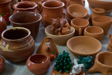 Many Clay Pot Is On The Table ...