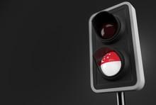 Singapore Flag Inside Traffic ...
