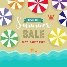 End Of Summer Sale Poster, Pro...