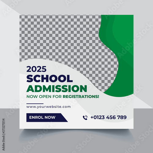 Cuadros en Lienzo School education admission Instagram Facebook post cover & web banner, Back to s