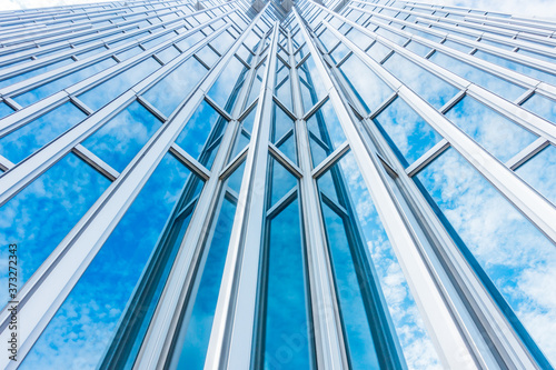 Leinwand Poster Architecture details Modern Building Glass facade Business background