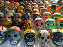 Day Of The Dead In Mexico. Bea...