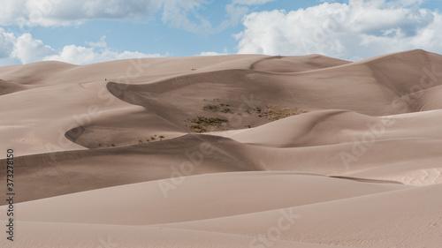 Vászonkép A horizontal shot of sand dunes at Great Sand Dunes National Park, USA