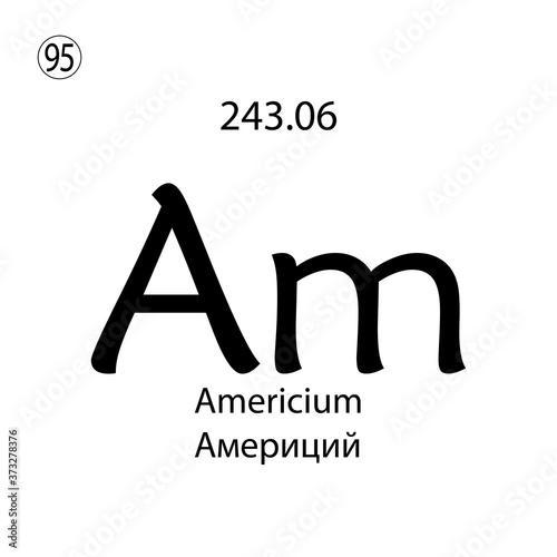 Americium chemical element Canvas Print