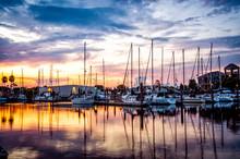 Fresh Morning Marina Sunrise W...