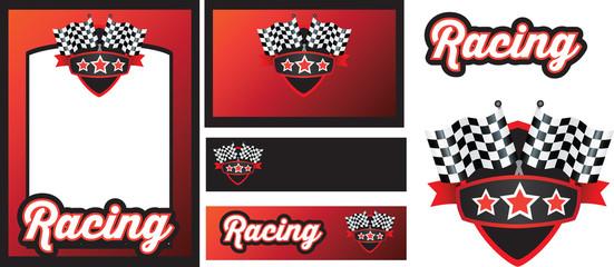 motorsport racing template set