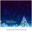 beautiful christmas greeting card design background
